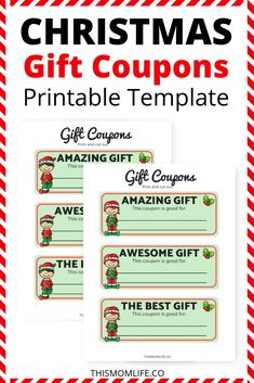 Encourage your kids to give thoughtful gifts this Christmas by using printable gift coupon templates. Gift coupons make for the best family presents because they are quality, meaningful, and thoughtful gift ideas. Christmas Tree Advent Calendar, Christmas Fun, Christmas Templates, Christmas Printables, Toddler Gifts, Gifts For Kids, Gift Coupons, Coupon Template, Templates Printable Free