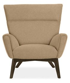 Boden Chair & Ottoman in Vick Fabric - Chairs - Living - Room & Board