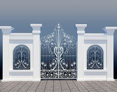 Home Gate Design, House Main Door Design, Front Wall Design, House Fence Design, Balcony Railing Design, Main Gate Design, Modern Steel Gate Design, Compound Wall Design, Cool Room Designs