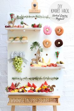 Tis the season for entertaining so I thought I would try this out which popped into my head, by creating a vertical grazing pegboard. What I did: First thing I did is placed it on my art easel and …