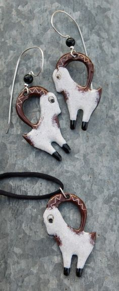 Goat jewelry  #goatvet collects jewelry  which feature goats