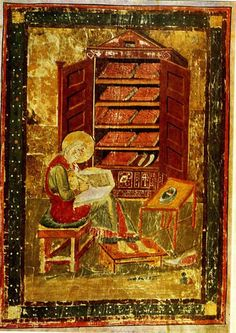 The Codex Amiatinus was made in the Northumbrian monasteries of Wearmouth (dedicated to St. Peter and founded in 674 by Benedict Biscop) and Jarrow (dedicated to St. Paul and founded in 681 by an Anglo-Saxon Ceolfrith). The Codex Amiatinus was made at the command of Ceolfrith. He intended to present the manuscript as a gift to the pope, but he died in France in 716 on the way to Rome. This gift was intended as a testament to the dedication of Wearmouth and Jarrow to the Church of Rome.