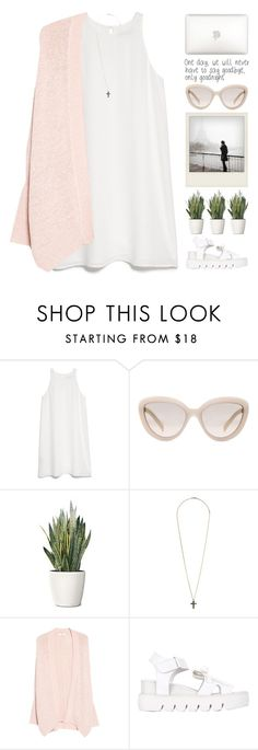 """if you read this then you are a cutie"" by alienbabs ❤ liked on Polyvore featuring MANGO, Polaroid, Prada, PLANT, Topshop, Xiao Li, clean, just, organized and reminder"