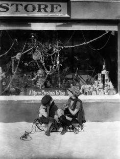 Dorothy Sebastian and friend window shopping
