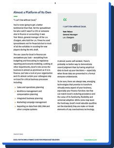 How to make even better use of Excel across the business - to uncover new insights, convey them to senior management and - in turn - help shape the best future for your company. Facebook Messenger Logo, Power Out, Senior Management, Business Intelligence, Things To Think About, Insight, Finance, Believe, Self