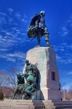 Samuel de Champlain Monument in Orillia, Ontario I remember climbing this all the time when I was a kid.