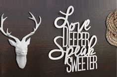 Love Deeper Speak Sweeter Metal Wall Art  Metal by INSPIREMEtals