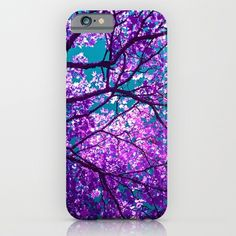 iPhone 6 Cases featuring purple tree II by blackpool