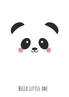 """Postkaart panda Postkaart panda met tekst """"Hello Little One"""". Dezekaart is geschiktvoor kinderen en iedereen die pas een baby heeft gekregen.  [ssba]..."""