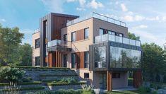 Дом с эксплуатируемой крышей Multi Story Building