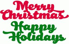 Silhouette Design Store - View Design #51783: holiday text set