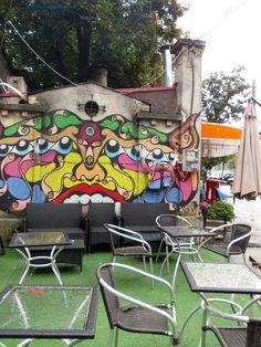Local graffiti near Bega River Romania, Gazebo, Graffiti, Outdoor Structures, Patio, River, Country, City, Outdoor Decor