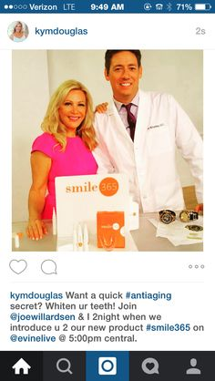 You can take years off by using our new product #smile365 on Evine Live TV or find it at Evine.com