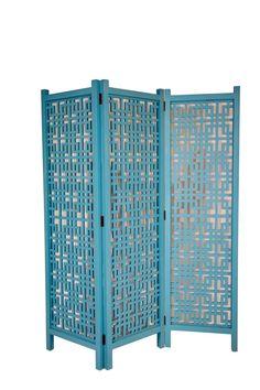 Three Panel Geometric Divider in Ocean Blue by leaandlani on Etsy