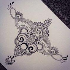 Anoushka Irukandji — Custom tattoo design Anoushka Irukandji 2015 For. Sternum Tattoo Design, Henna Tattoo Designs, Mehndi Designs, Mandala Art Lesson, Mandala Drawing, Mandala Tattoo, Tattoo Sketches, Tattoo Drawings, Body Art Tattoos