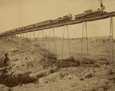 William Henry Jackson, Dale Creek Bridge, Union Pacific Railway, 1885, Albumen silver print. » Makes me think of Hell On Wheels. Do you watch that show? I love it.