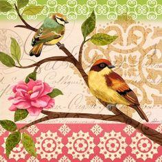 Summer Songbirds Sq4 by Jennifer Brinley | Ruth Levison Design