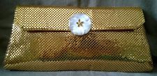 Vintage Whiting & Davis Gold Tone Mesh Evening Bags Clutch Purse