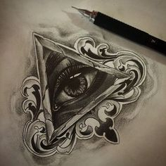 Other tattoo ideas Third Eye Tattoos, All Seeing Eye Tattoo, Love Tattoos, Body Art Tattoos, Hand Tattoos, Tattoos For Guys, Tattoo Sketches, Tattoo Drawings, Tatoo