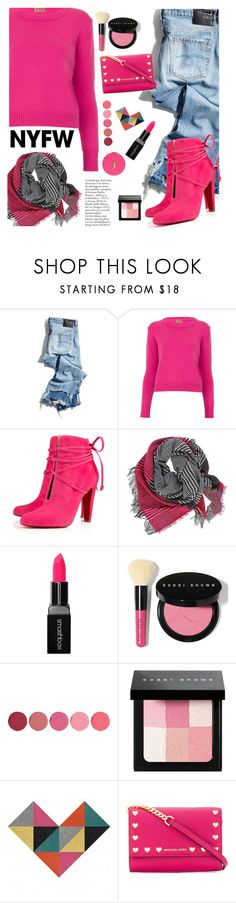 """""""NYFW Hot Pink"""" by newmariaph ❤ liked on Polyvore featuring R13, Christian Louboutin, Smashbox, Bobbi Brown Cosmetics, Kjaer Weis, MICHAEL Michael Kors, Miss Selfridge, contestentry and NYFWHotPink"""