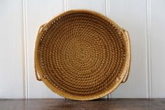 Antique Woven Basket with Handles / Woven Baskets by tentvintage, $25.00