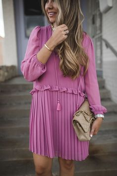 Pink Party Dress | The Teacher Diva: a Dallas Fashion Blog featuring Beauty & Lifestyle
