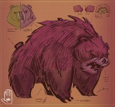 DeviantArt - Discover The Largest Online Art Gallery and Community Angry Animals, Love Puns, Darkest Dungeon, Bear Claws, Online Art Gallery, Game Design, Fashion Art, Creatures, Photoshop