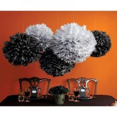 tissue poms. For more great birthday party ideas and decorations visit Get The Party Started on Etsy at www.GetThePartyStarted.Etsy.com