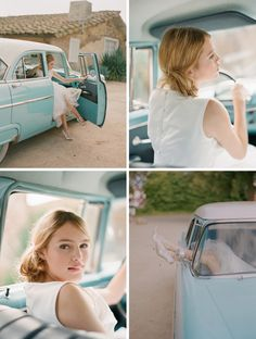 A vintage car as a something blue... mmmm hmmmm.