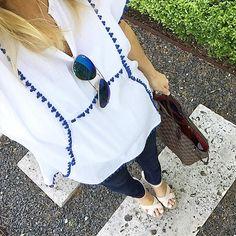 #jcrew #whiteandblue #raybans #summerstyle
