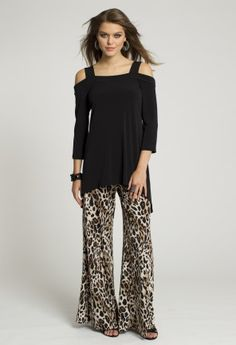 c050d2dddca Dressy Tops - Cold Shoulder Cutout Black Top from Camille La Vie and Group  USA