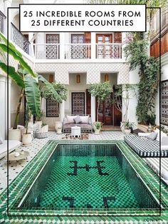 Le Riad Yasmine in Marrakech Le Riad, Riad Marrakech, Piscina Hotel, Piscina Interior, Casas The Sims 4, Rooftop Terrace, Courtyard Pool, Outdoor Living, Outdoor Decor