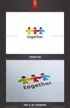 Together Logo Template #GraphicRiver Together: a logo that can be used in social networks, LUGRo nonprofit organizations, NGOs, among other uses. Its design is very simple and is easy to configure. Ready to print. Customizable 100% CMYK AI – EPS Font used Ubuntu Created: 31May12