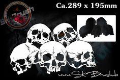Airbrush Schablone für Schädel Skullhaufen - Totenköpfe - Skull's Kopf   Skulls   Profiline   Schablonen   SK-Brush - Fachgeschäft und Custompaint Studio für Airbrush & Pinstriping