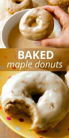 Baked Donut Recipes, Baked Doughnuts, Baking Recipes, Healthy Baked Donuts, Cake Donut Recipe Baked, Easy Donut Recipe, Donuts Donuts, Pancake Recipes, Waffle Recipes