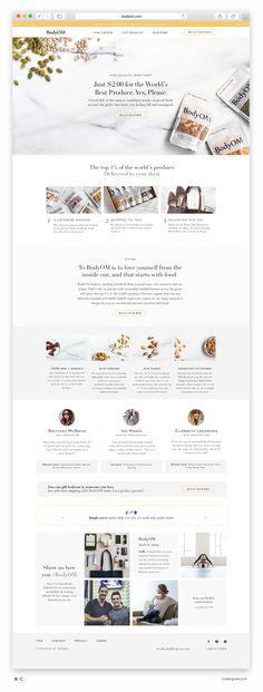 Website, UX, Design, Graphic Design, Web Design, Awwwards, BodyOM, Snacking