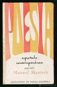 poesia española contemporanea - 1939-65 - manuel montero - ed. plaza & janes - t. duras -año 1965 at - Foto 1