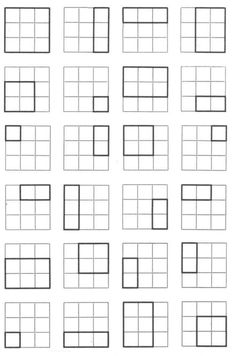 A 3x3 grid showing its vast amount of inherent spatial opportunities. #grid