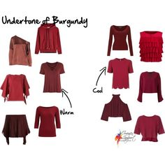 How to Distinguish the Undertone of Red and Burgundy - Inside Out Style Deep Winter Colors, Warm And Cool Colors, Summer Colors, Warm Colours, Brown Colors, 60 Fashion, Autumn Fashion, Cool Summer Palette, Inside Out Style