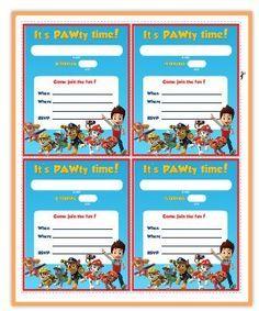 Paw Patrol: Free Printable Invitations. … | Pinteres…