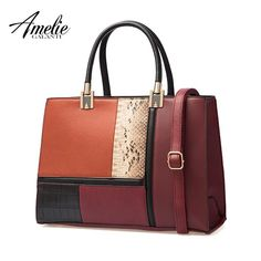 Beautiful Autumn and winter women bag stitching fashion ladies handbag.