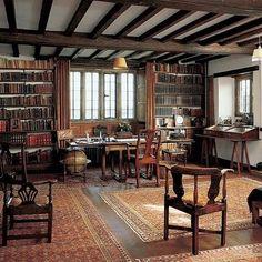 Rudyard Kipling's library at Bateman's, East Sussex
