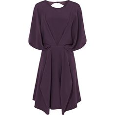 Reiss Melissa Draped Cut-Out Back Dress