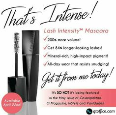 New Lash Intensity Mascara from Mary Kay! http://www.marykay.com/lisabarber68 Call or text  832-823-1123