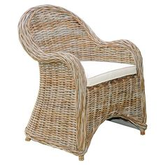 Add an island-chic touch to your patio or master suite with this lovely rattan arm chair, showcasing a teak frame and flared silhouette.   ...
