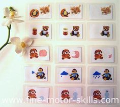 Put the pictures in the correct order to tell a story... a printable card game or work sheet for kids.