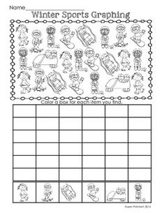 Free Winter Sports Graphing Freebie - Just in time for the Olympics Math Classroom, Kindergarten Math, Teaching Math, Classroom Ideas, Fun Math, Math Activities, Theme Sport, 1st Grade Math, Grade 1