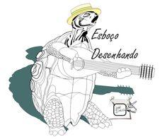 TARTARUGA ESBOÇO Iniciando umas ilustrações com tartarugas, aliás elas são muito simpáticas. Desenho - Ilustração - Illustration - Drawing http://arterocha.blogspot.com.br