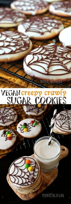 Halloween is just around the corner! Get into the spirit with these vegan Halloween Sugar Cookies, an activity for the whole family. Click through for the recipe.