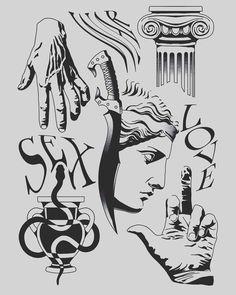 Tattoo Design Drawings, Tattoo Sketches, Tattoo Designs, Tattoo Studio, Black Tattoos, Small Tattoos, Spooky Tattoos, Blackwork, Mythology Tattoos